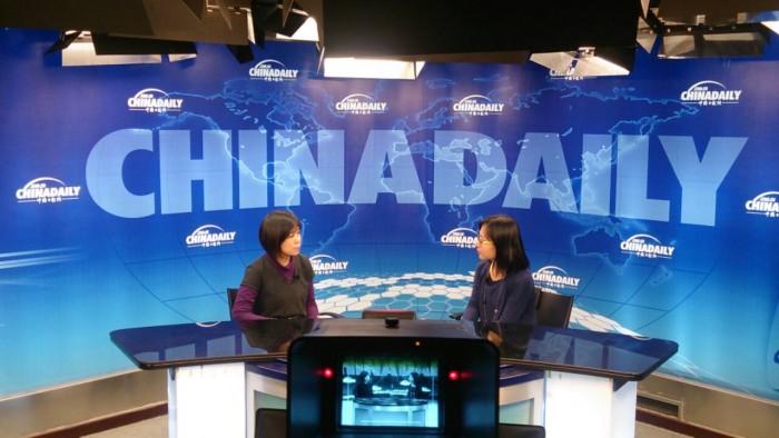 接受中國最大英文報 CHINA DAILY專訪